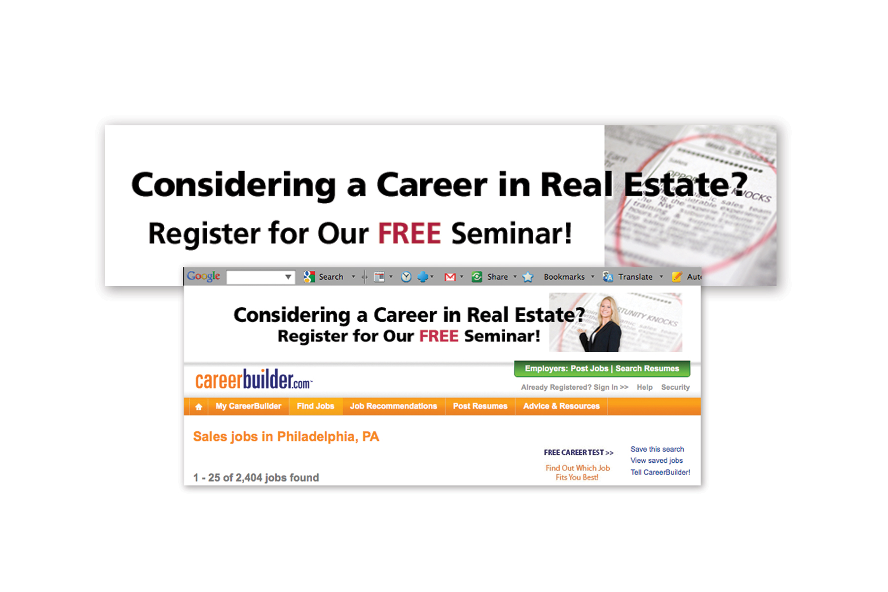 Web Ad, Career Builder